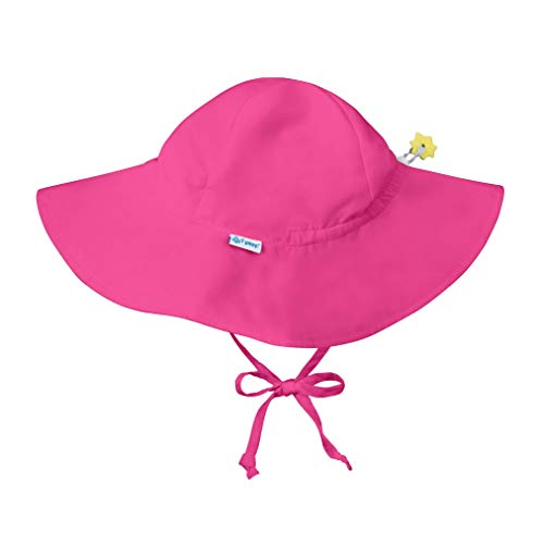 i play. Baby Solid Brim Sun Protection Hat, Hot Pink, 9/18mo (Best Baby Beach Gear)