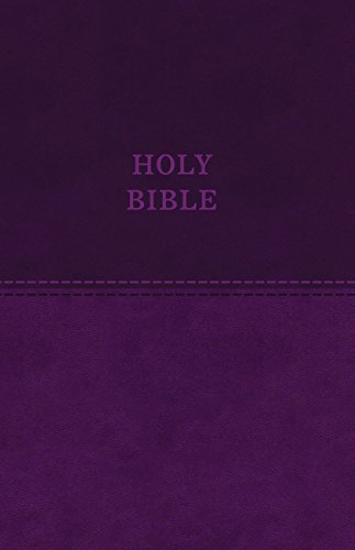 KJV, Value Thinline Bible, Large Print, Leathersoft, Purple, Red Letter Edition, Comfort Print: Holy Bible, King James Version