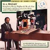 """Mozart: Symphonies No. 35 in D """"Haffner"""" / No. 36 in C """"Linz"""" arranged for fortepiano, flute, violin and cello by J. N. Hummel"""