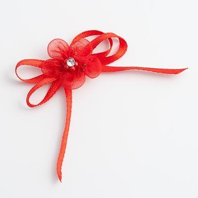 Self Adhesive Diamante Flower Bows - Red (Pk 12) by DIY Wedding Favours by DIY Wedding Favours