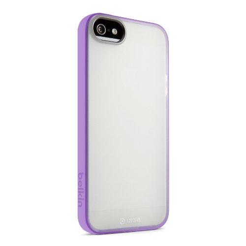 Belkin Clear Case Iphone (Belkin Grip Candy Sheer Case / Cover for iPhone 5 / 5S and iPhone SE (Clear / Purple ))