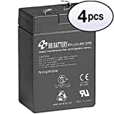 GOWOS (4 Pack) 6V 4Ah Battery T1 Terminal, BP4-6-T1