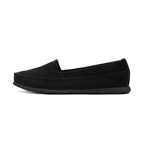 Ons Casual Flats Driving Slip Shoes Suede Black Lightweight T Loafers JULY For Moccasin Women xX0qSq1