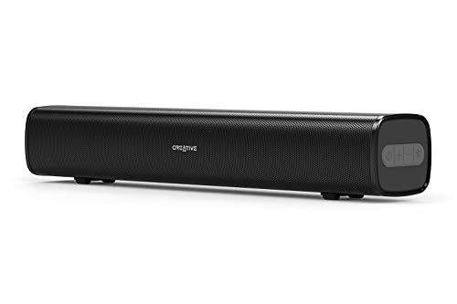Creative Stage Air Portable and Compact Under-Monitor USB-Powered Soundbar for Computer, with Dual-Driver and Passive Radiator for Big Bass, Bluetooth and AUX-in, USB MP3, 6 Hours of Battery - Labs Creative Battery