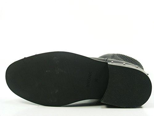 Bronx Bwagonx 46991-e-01 Damesschoenen Chelsea Boots Biker Enkellaars Zwart