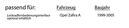 CD MP3 Einbauset f/ür Opel Zafira A Android Einbauzubeh/ör USB Bluetooth JUST SOUND best choice for caraudio Autoradio Radio Pioneer DEH-S3000BT
