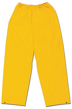 River City (MCR Safety Garments) 200PWX3 - Classic General Purpose Rain Pants - 3X-Large, Yellow, Polyester/PVC, Pack of 15