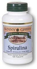 Sunny Green Spirulina 500 Mg, 120 Count