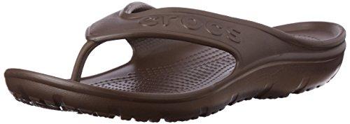crocs Unisex-Erwachsene Hilo Flip Pantoffeln Braun (Mahogany)