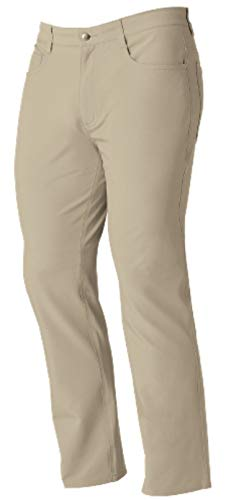 FootJoy Men's Performance Athletic Fit 5 Pocket Golf Pants (Khaki, 42)