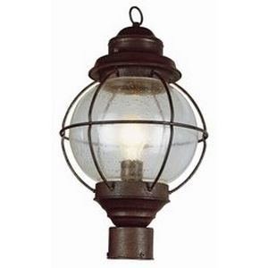 Trans Globe Lighting 69902 RBZ Outdoor Catalina 15'' Postmount Lantern, Rustic Bronze