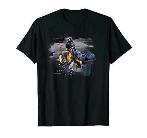 - Western Reining Horseriding Quarter Horse trot Gift T-Shirt
