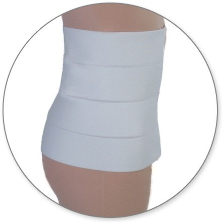 Post Op Tummy Tuck Compression garments - Liposuction Surgery Recovery Abdominal Binder | ContourMD : Style 13 (12in - Small - Fits 30in to (Post Tummy Tuck)