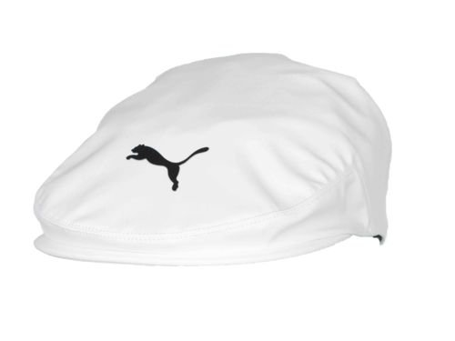 Driver Hat (Bright White-Puma Black, One Size) (Kids Golf Hats)