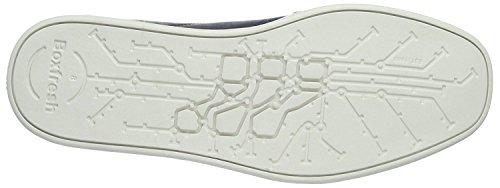Boxfresh Sparko ICN Armada Hombres Blanco Cuero Entrenadores Zapatos