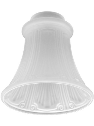 Satin Crystal Fluted Panlight Shade With 2 1/4