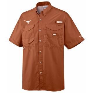 NCAA Texas Longhorns Men's Collegiate Bonehead Short Sleeve Shirt, Cedar, 2X Big & Tall ()