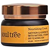 SoulTree Nourishing Cream - Saffron & Almond oil with Natural Vitamin-E, For Dry to Normal Skin, 25g