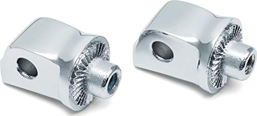 Kuryakyn 8923 Splined Male Mount Peg Adapters for Rear Footpegs and Floorboards: 2018-19 Harley-Davidson Softail Motorcycles, Chrome, 1 Pair ()