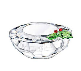 Swarovski Crystal Holly Tea Light