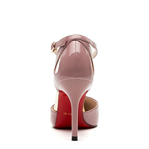 Hoxekle Women Sexy High Heels Stiletto Pumps Spring Fashion New Element Shoes Pink tnx8Dq6TS