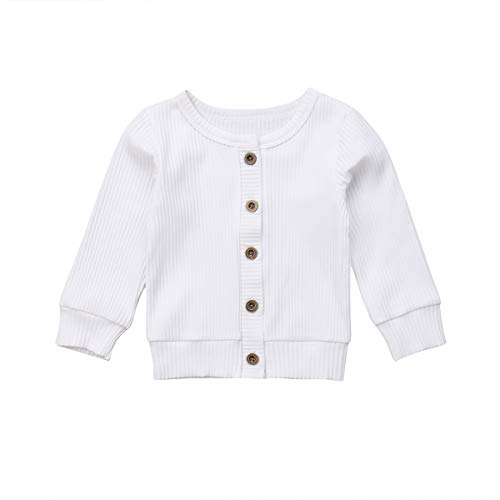 fe282b0b0 Infant Baby Girl Button Down Knitwear Long Sleeve Soft Basic Knit ...