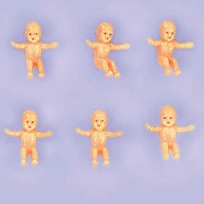 Amscan Miniature Baby Charms Plastic Baby Shower Party Favors, Tan