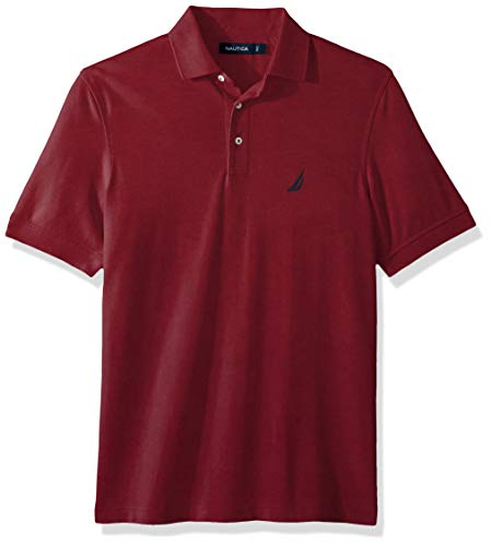 (Nautica Men's Short Sleeve Solid Stretch Cotton Pique Polo Shirt, Barolo XX-Large)
