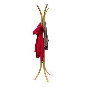 Amazon.com: Relaxdays – Perchero de pie de madera (175 x 50 ...