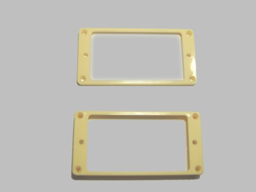 MIJ Pickup Rings for Humbucker Flat-Top Set ivory fa-pur-ft2-ivy (Pickup Ring Set)