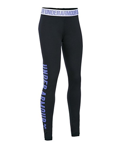 Under Armour Girls' Favorite Campus Novelty Legging, Black (001), Youth X-Small