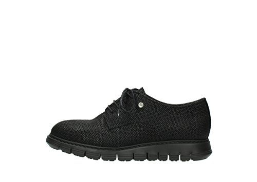 Scarpe Nero Up Luce Comfort Diurna Stampato Wolky Camoscio 90003 Lace SqtwwE0xA