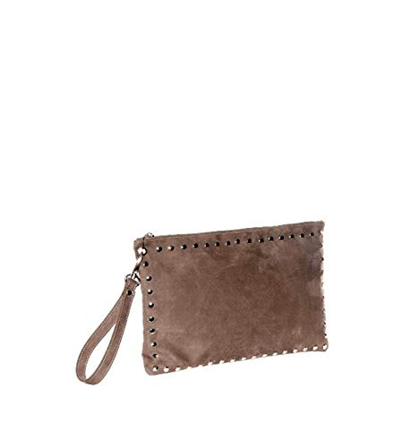 BAG BRIGHT CLUTCH LARGE TORTORA TAUPE BAG Donna CLUTCH 228 EFHHwgUYq