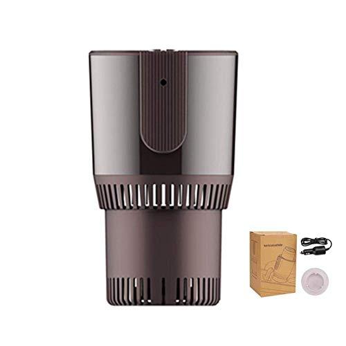 J.SPG Inteligente Coche 2 en 1 Refrigeracion Taza de Calentamiento Aislamiento Taza electrica Mini Nevera Aluminio ecológico...