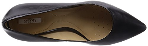 Geox D Elina C, Zapatos de Tacón para Mujer Negro (BLACKC9999)