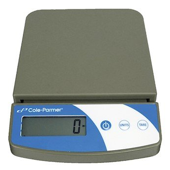 Cole-Parmer Symmetry Compact Portable Toploading Balance, 5000g x 2g, 220V