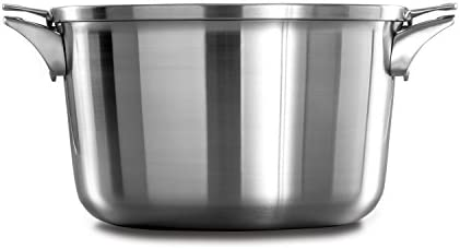 Calphalon Premier Space Saving Stainless Steel 12qt Stock Pot with Cover