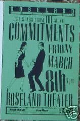 The Commitments Stars Actual Live Gig Concert Poster