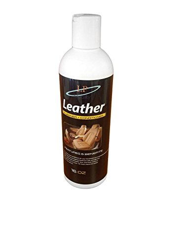 LP Quality - Best Leather Cleaner with Conditioner - Softens Protects & Repairs Leather Furniture, Car leather seat, Handbags, 16oz bottle.