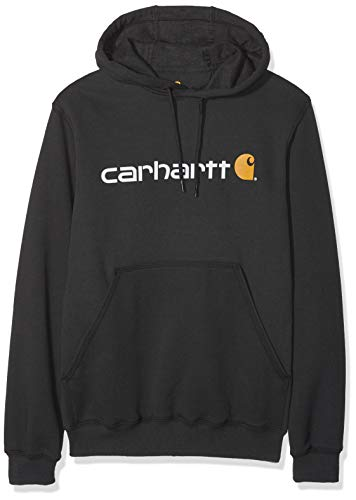 Hooded Sweatshirt Nero Signature Carhartt Logo Ybgy76f