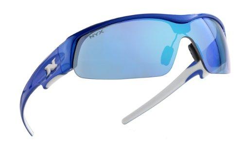 NYX Pro Z-17 Sunglasses (Blue Frame White Logo, Arctic Blue - Reviews Sunglasses Golf Prescription