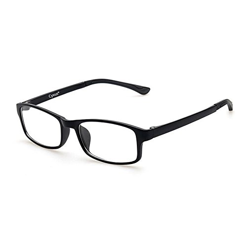 Cyxus Blue Light Blocking [Lightweight TR90] Glasses for Anti Eye Strain Headache Computer Use Eyewear, Men/Women (TR90 black) by Cyxus