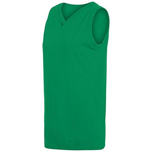 - Augusta Activewear Ladies Sleeveless V-Neck Poly/Cotton Jersey, Kelly, Medium