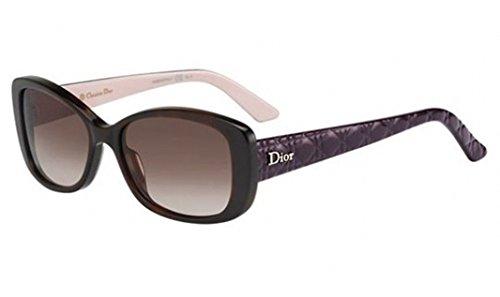 Dior CZZ Tortoise and Plum Ladyindior2 Oval Sunglasses Lens Category - Dior Sunglasses Model 2