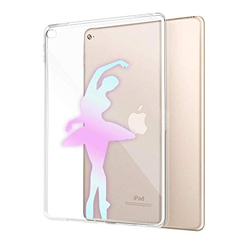Customized Protective Cover with Slim Soft Durable TPU Ultra-Clear Silicone UV Printing Case for Glitter Ballet Dancer iPad Air - Printing Durable
