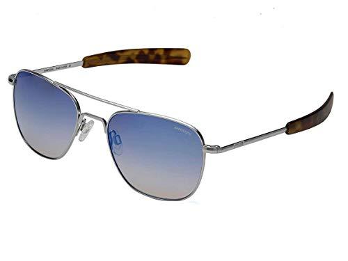 Randolph Aviator Sunglasses Matte Chrome/Bayonet/Skyforce Air Northern Lights ()