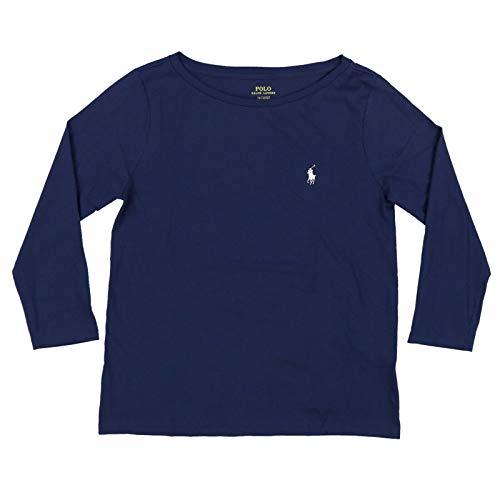 Polo Ralph Lauren Womens 3/4 Sleeve Boat Neck T-Shirt (Large, Newport Navy)