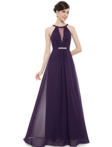 Ever Pretty Womens Long Chiffon Wedding Guest Dress 16 US Purple
