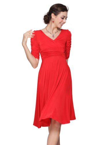 HE03632RD14, Red, 12US, Ever Pretty Casual Graduation Dresses For Teenager 03632
