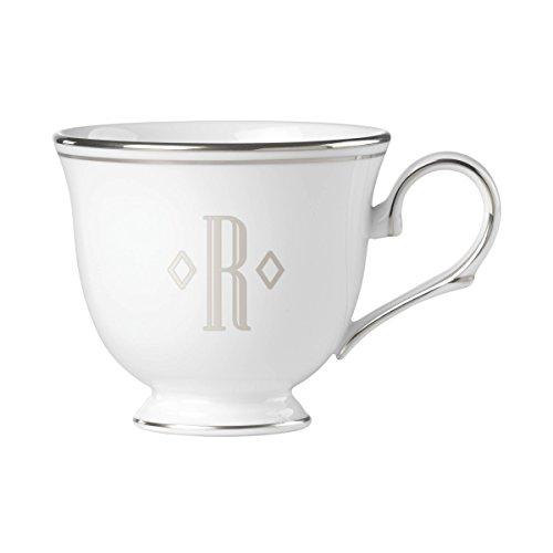 (Lenox Federal Platinum Block Monogram Dinnerware Teacup, R)